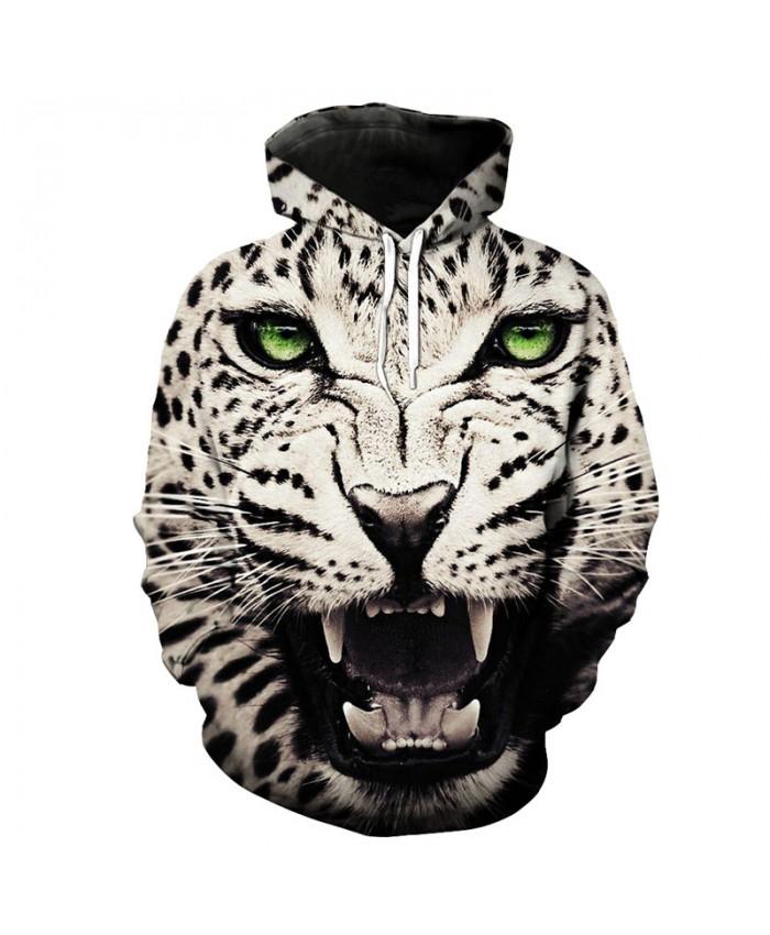 Roaring Leopard Print Cool Hoodie Leopard Sportswear