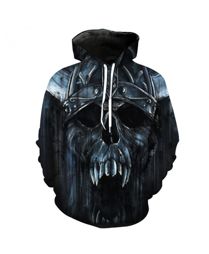 Roaring Metal Skull Fashion Hoodie Cool Tracksuit Pullover Hooded Sweatshirt