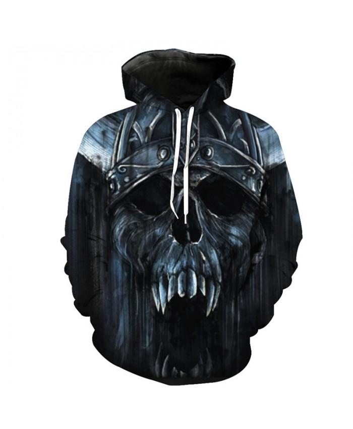 Roaring Metal Skull Fashion Hoodie Cool Tracksuit Pullover Hooded Sweatshirt