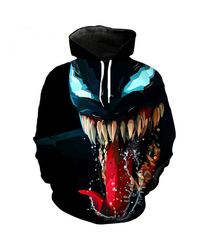 Roaring venom printing cool 3D hooded sweatshirt fashion street dress pullover