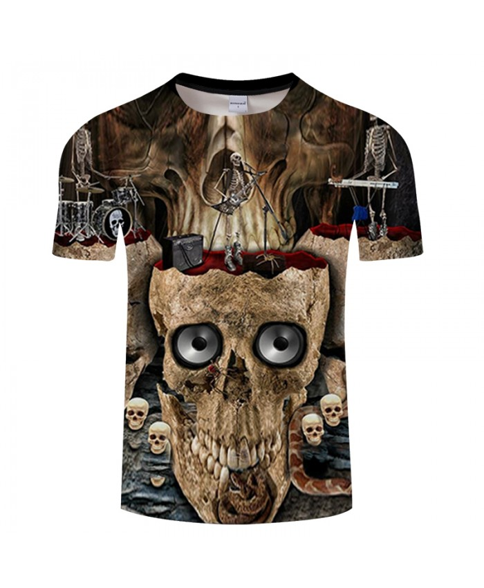 Rock 3D T shirt Men Skull t-shirt Streatwear tshirt Groot Tees Funny Tops Summer Camiseta Short Sleeve 2021 DropShip
