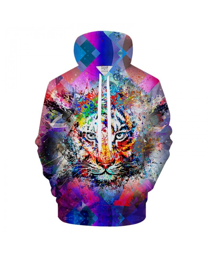 Rock Tiger Printed Hoody Men Sweatshirt 3D Hoodies Brand Pullover Streetwear Tracksuits Groot Coat Harajuku Drop Ship