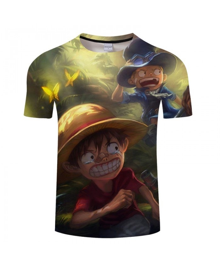 Round Eyes One Piece 3D Print Men tshirt Crossfit Shirt Casual Summer Short Sleeve Male tshirt Men Anime Tops&Tee