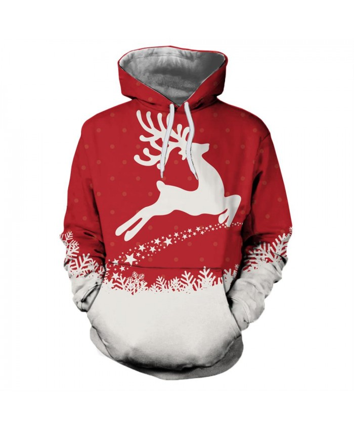 Running Deer Christmas Christmas Hoodies 3d Sweatshirts Men Women Hoodie Print Couple Tracksuit Hooded Hoody Clothing