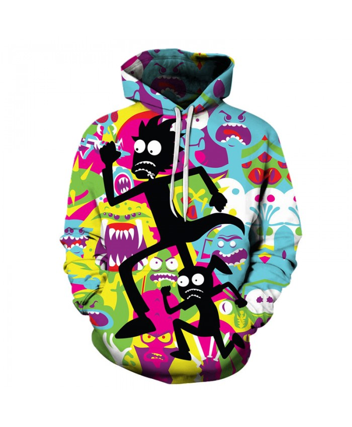 S-6XL Hoodies Rick and Morty Cartoon printing Women/Men harajuku Hooded sweatshirts 3d casual pullover clothing Drop Shipping