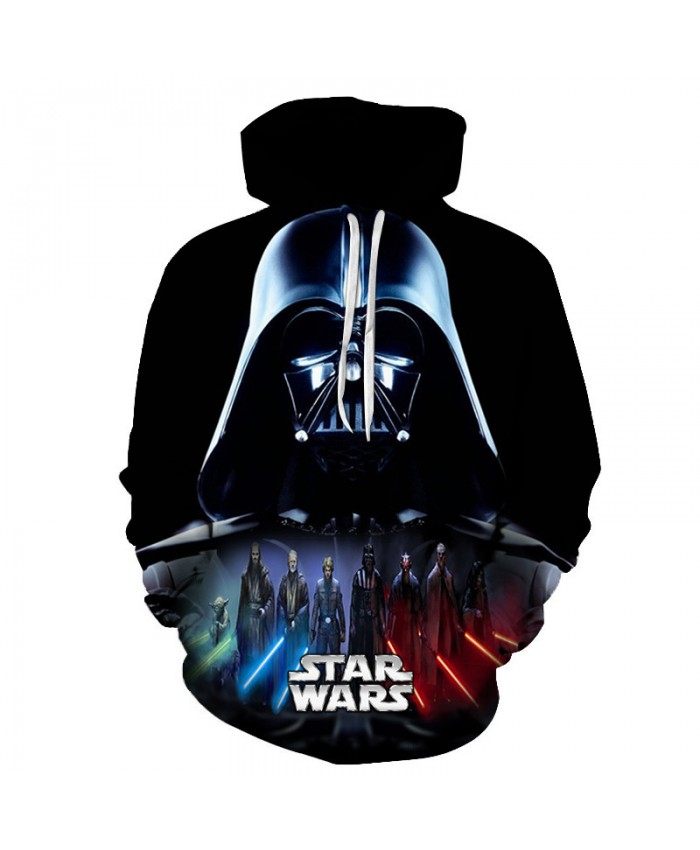 STAR WARS Print Hoodies 3D Cool Design Men Sweatshirts Casual Male Tracksuits Fashion Tops Drop Ship Pullover