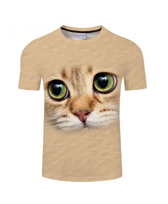 Sad Eyes Cat 3D Printed Men tshirt Crossfit Shirt Casual Summer Short Sleeve Male tshirt Brand Men Loose Round Neck