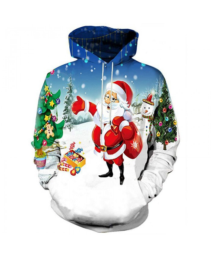 Santa Brought A Gift Christmas Hoodies 3D Sweatshirts Men Women Hoodie Print Couple Tracksuit Hooded Hoody Clothing