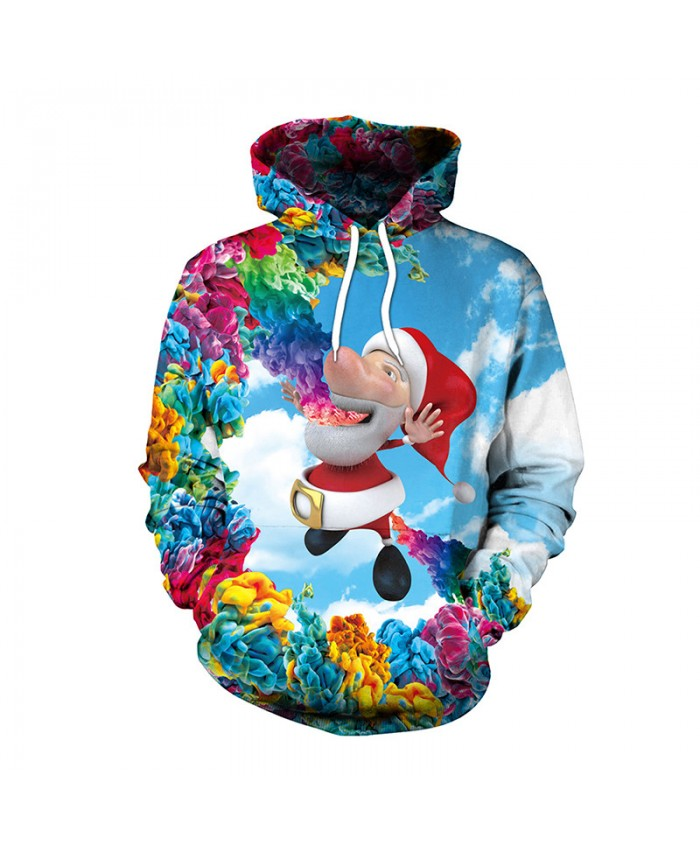 Santa Claus Various Colors Christmas Sweater Unisex Men Women Vacation Santa Elf Pullover Funny Sweaters Tops Autumn Winter Clothing