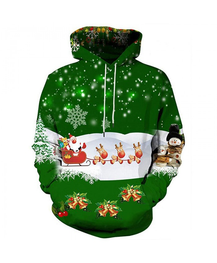 Santa Claus gave a present Christmas Hoodies 3D Sweatshirts Men Women Hoodie Print Couple Tracksuit Hooded Hoody Clothing
