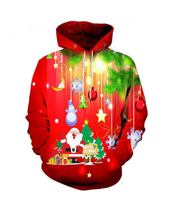 Santa Claus is coming Christmas Hoodies 3D Sweatshirts Men Women Hoodie Print Couple Tracksuit Hooded Hoody Clothing