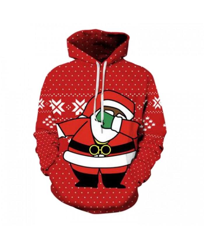 Santa Hoodie Christmas Hoodies 3D Sweatshirts Men Women Hoodie Print Couple Tracksuit Hooded Hoody Clothing