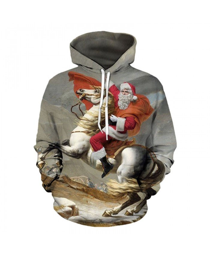 Santa became Napoleon Christmas Hoodies 3D Sweatshirts Men Women Hoodie Print Couple Tracksuit Hooded Hoody Clothing