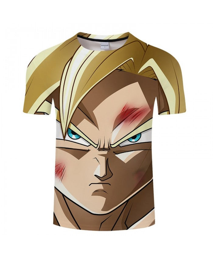 Scar On The Face Cartoon Goku Dragon Ball 3D Print Men tshirt Anime Casual Summer Short Sleeve Male O-neck Drop Ship