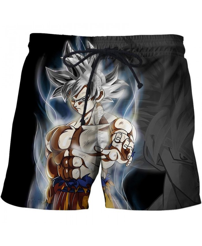 Scent Dragon Ball Men Anime 3D Stone Printed Beach Shorts Summer 2021 New Male Quick Drying Breathable Board Shorts