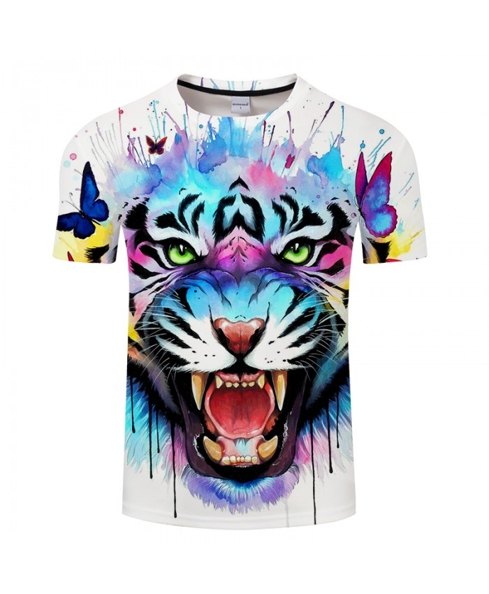 Secrets design By Pixie coldArt Tiger 3D Print T shirt Men Summer Anime ShortSleeve Top&Tee Boy Tshirt Streetwear Women DropShip