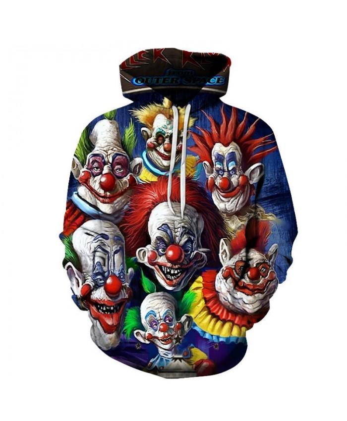 Seven Clowns 3D Print Men Pullover Sweatshirt Clothing Pullover Hoodie Streetwear Sweatshirt 2019 Casual Hoodies Men