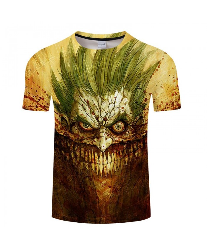 Sharp Teeth Anime Game 3D Print tshirt Men tshirt Summer Casual Short Sleeve Male 2019 Hot Sell O-neck Drop Ship