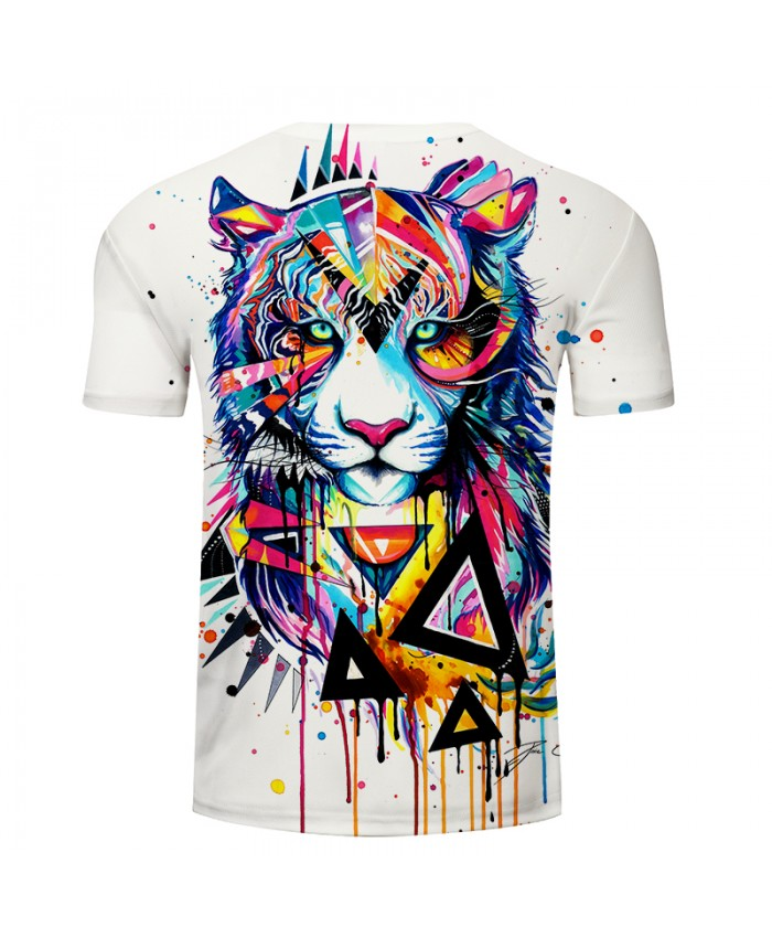 Shattered Tiger by Pixie cold Art T-shirts Men tshirt 2018 Summer O-neck Short Sleeve Tees Tops Drop Ship