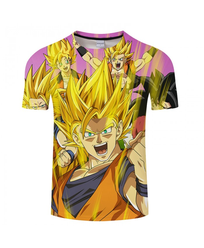 Shine 3D Print T shirt Men Dragon Ball Summer Anime Short Sleeve Goku Tops&Tees Tshirts Streetwear 2018 Drop Ship