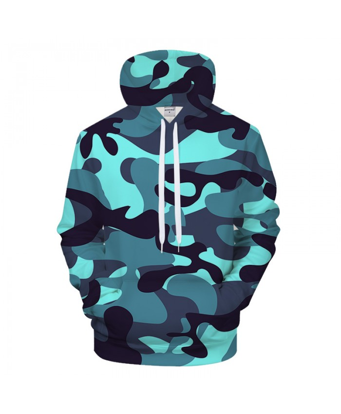 Shine Blue Camo 3DPrint Hoodies Men Women 2018 Sweatshirt Casual Tracksuit Jacket Hoodie Pullover Streatwear Dropship
