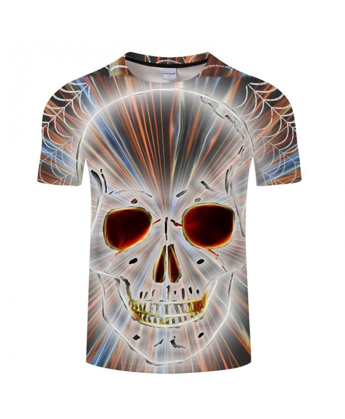 Shine Skull 3D Print t shirt Men Women tshirt Summer Funny Short Sleeve O-neck Tops&Tee Streetwear 2018 Drop Ship