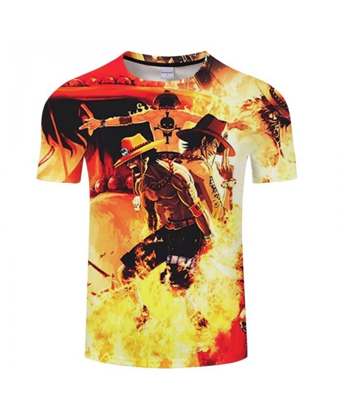 Shouting In The Fire One Piece 3D Print Men tshirt Crossfit Shirt Casual Summer Short Sleeve Male tshirt Brand Men