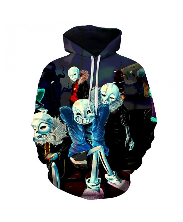 Skeleton 3D Print Hoodies Men Hoody Harajuku Hoodie Streatwear Sweatshirt Tracksuit Pullover Coat Hip Hop Dropship