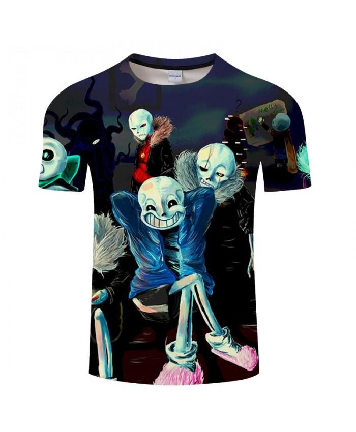 Skeleton 3D Print T shirts Men T-shirts Brand Tops Tee Anime Streetwear Summer Short Sleeve tshirt O-neck Drop Ship
