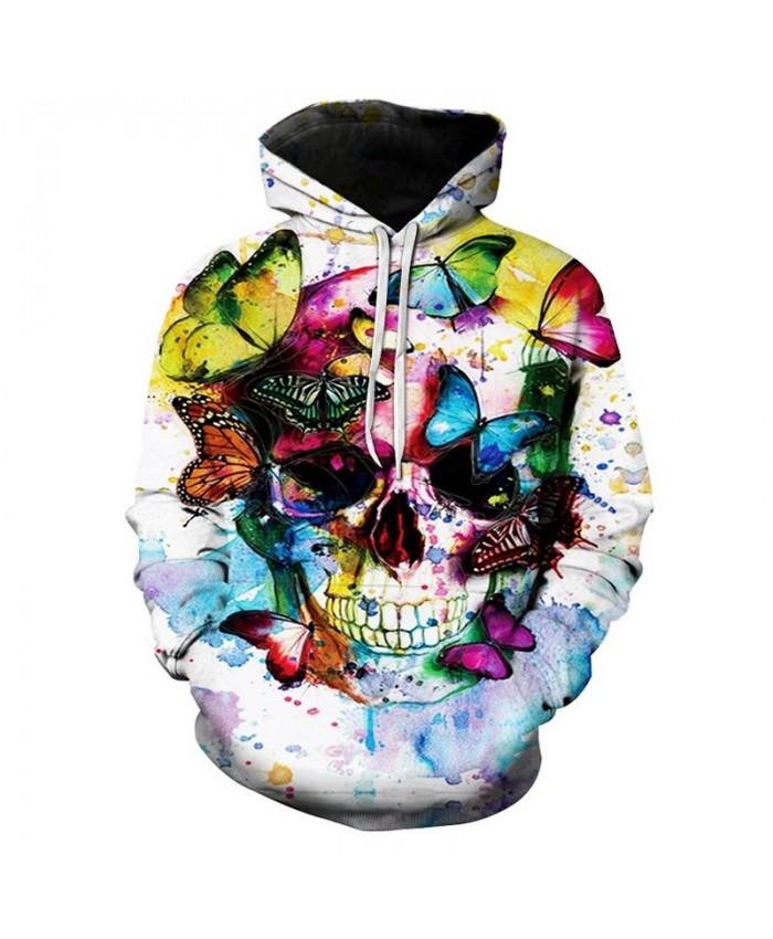 Skull 3D Hoodies Men Hoody Casual Sweatshirt Unisex Tracksuit Pullover Hoodie Print Coat Brand Streatwear Drop Ship