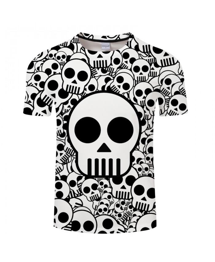 Skull 3D Print t shirt Men Women tshirt Summer Funny Short Sleeve O-neck Tops&Tee Streetwear Black Classic Drop Ship