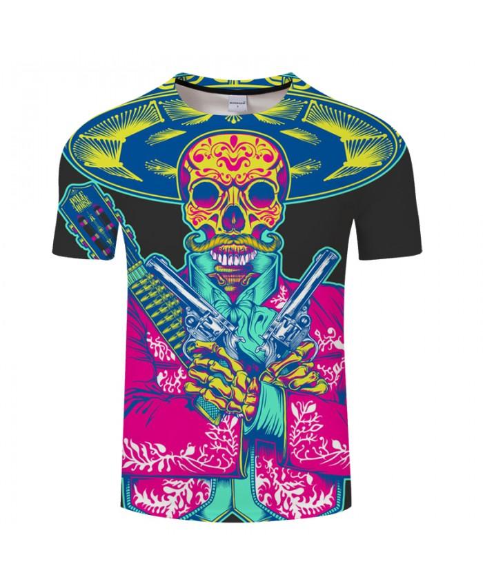Skull 3D Print t shirt Men Women tshirts Summer Funny Short Sleeve O-neck Tops&Tee Streetwear 2021 Black Drop Ship