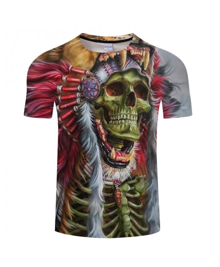 Skull 3D t shirt Men tshirt Summer T-Shirt Casual Top Short Sleeve Tees O-neck Streetwear Groot Print DropShip