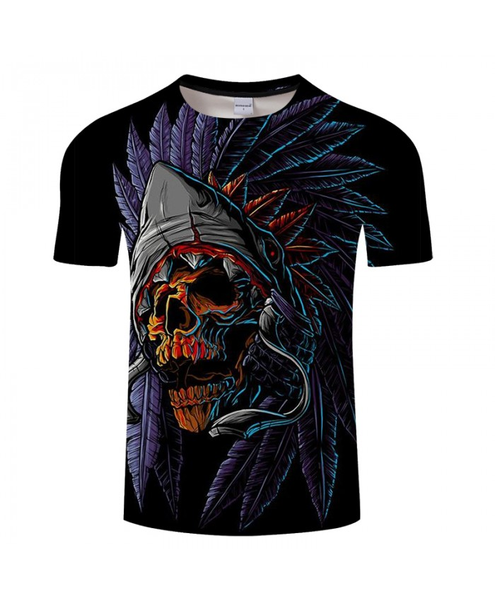 Skull 3D t shirt Men tshirt Summer T-Shirt Casual Tops Short Sleeve Tees Halloween O-neck Print Streetwear Drop Ship