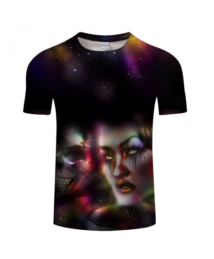Skull&Beauty 3D Print t shirt Men Women tshirt Summer Casual Short Sleeve O-neck Top&Tee Streetwear Camiseta DropShip
