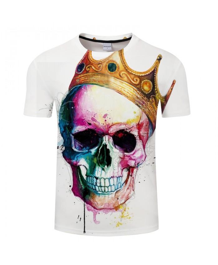 Skull Crown 3D Print t shirt Men Women tshirt Summer Cartoon Short Sleeve O-neck Tops&Tees Streetwear 2021 Drop Ship