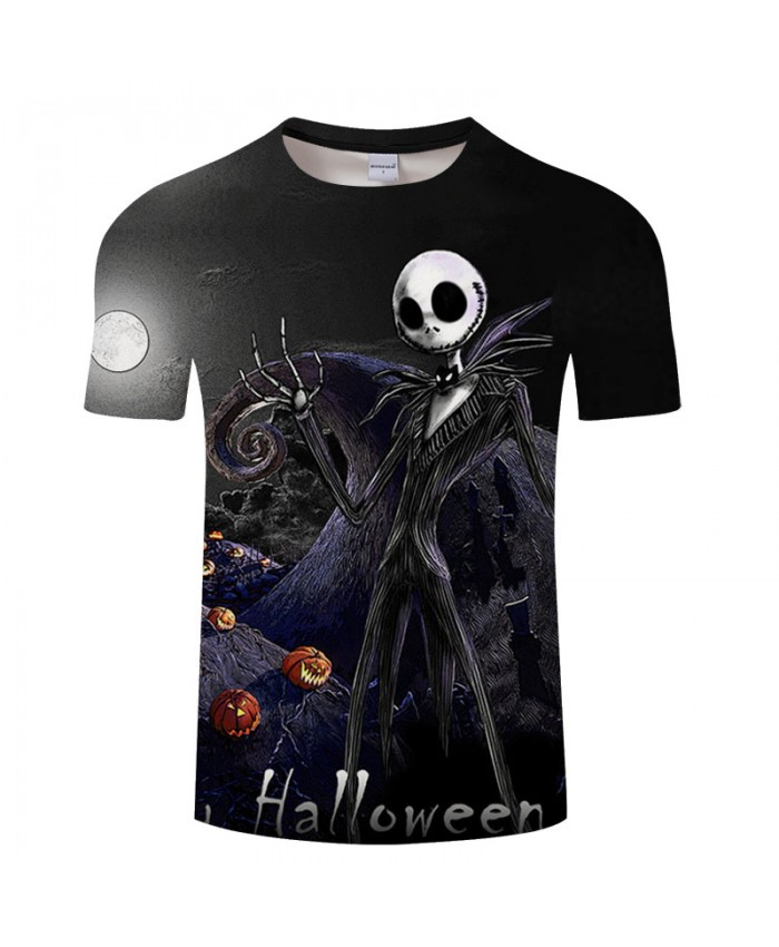 Skull Halloween 3D Print T shirts Men T-shirts Brand Tops Tee Streetwear Summer Short Sleeve tshirt O-neck Drop Ship