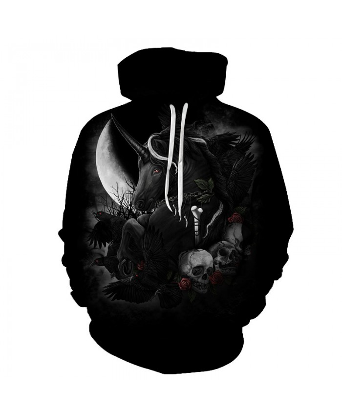 Skull Hoodies 3D Printed Mens Hoodie 2018 Fashion Clothing for Men Custom Autumn Winter Sweatshirts Pullover Drop Ship E