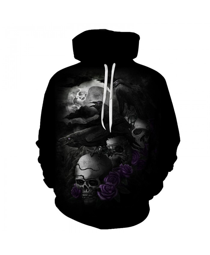 Skull Hoodies 3D Printed Mens Hoodie 2021 Fashion Clothing for Men Custom Autumn Winter Sweatshirts Pullover Drop Ship G