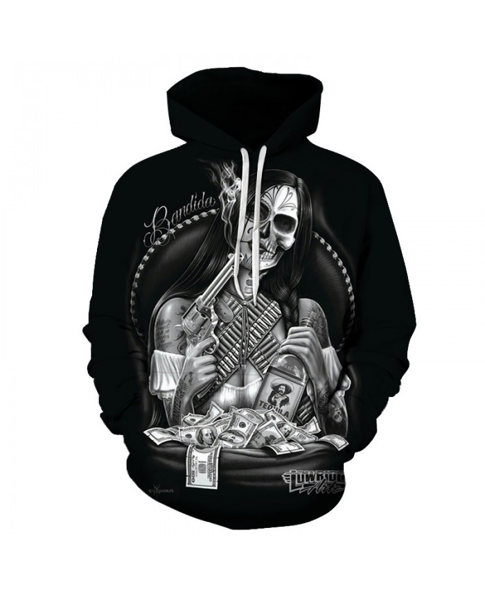 Skull Hoodies 3D Printed Mens Hoodie 2021 Fashion Clothing for Men Custom Autumn Winter Sweatshirts Pullover Drop Ship J