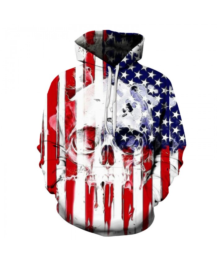 Skull Hoodies 3D Printed Mens Hoodie 2018 Fashion Clothing for Men Custom Autumn Winter Sweatshirts Pullover Drop Ship K