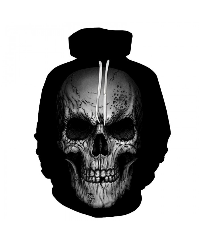 Skull Hoodies 3D Printed Mens Hoodie 2018 Fashion Clothing for Men Custom Autumn Winter Sweatshirts Pullover Drop Ship L