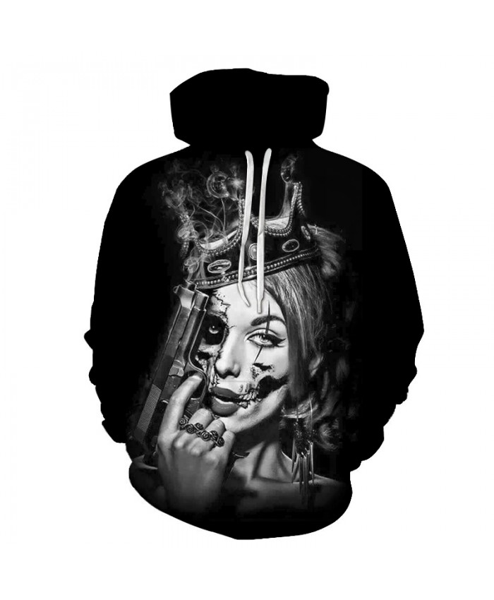 Skull Hoodies 3D Printed Mens Hoodie 2021 Fashion Clothing for Men Custom Autumn Winter Sweatshirts Pullover Drop Ship M