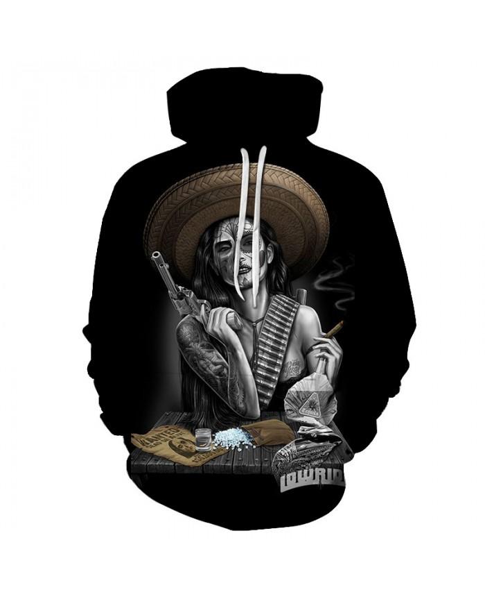 Skull Hoodies 3D Printed Mens Hoodie 2018 Fashion Clothing for Men Custom Autumn Winter Sweatshirts Pullover Drop Ship N