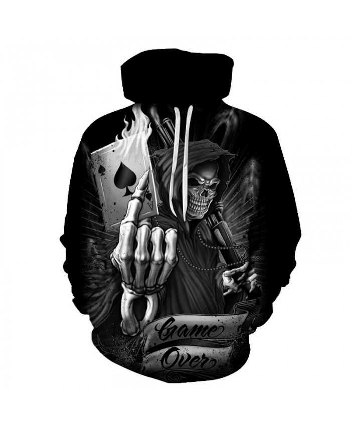 Skull Hoodies 3D Printed Mens Hoodie 2021 Fashion Clothing for Men Custom Autumn Winter Sweatshirts Pullover Drop Ship P