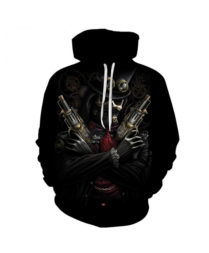 Skull Hoodies 3D Printed Mens Hoodie 2018 Fashion Clothing for Men Custom Autumn Winter Sweatshirts Pullover Drop Ship Q