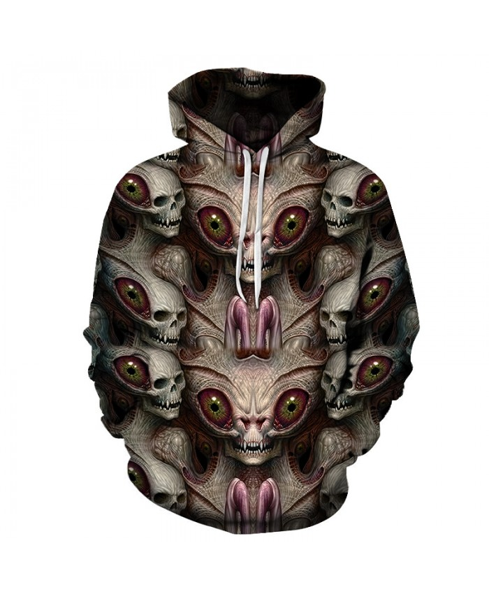 Skull Hoodies 3D Printed Mens Hoodie 2021 Fashion Clothing for Men Custom Autumn Winter Sweatshirts Pullover Drop Ship R