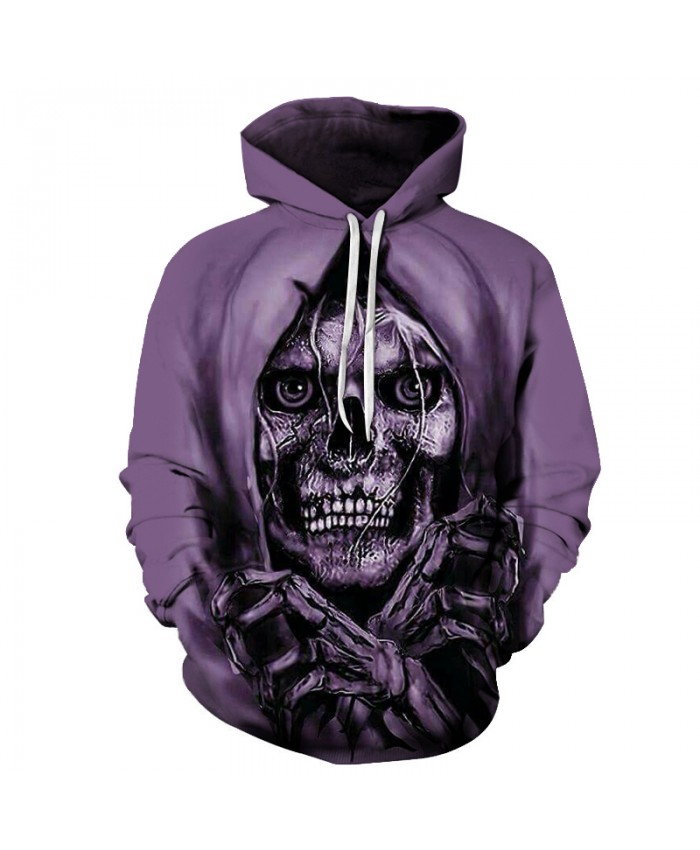 Skull Hoodies 3D Printed Mens Hoodie 2018 Fashion Clothing for Men Custom Autumn Winter Sweatshirts Pullover Drop Ship S