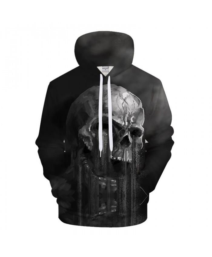 Skull Hoodies 3D Skull Hoodie Sweatshirt Men Hoody Pullover Unisex Tracksuits Causual Male Streetwear Fashion Coat Brand Hoody