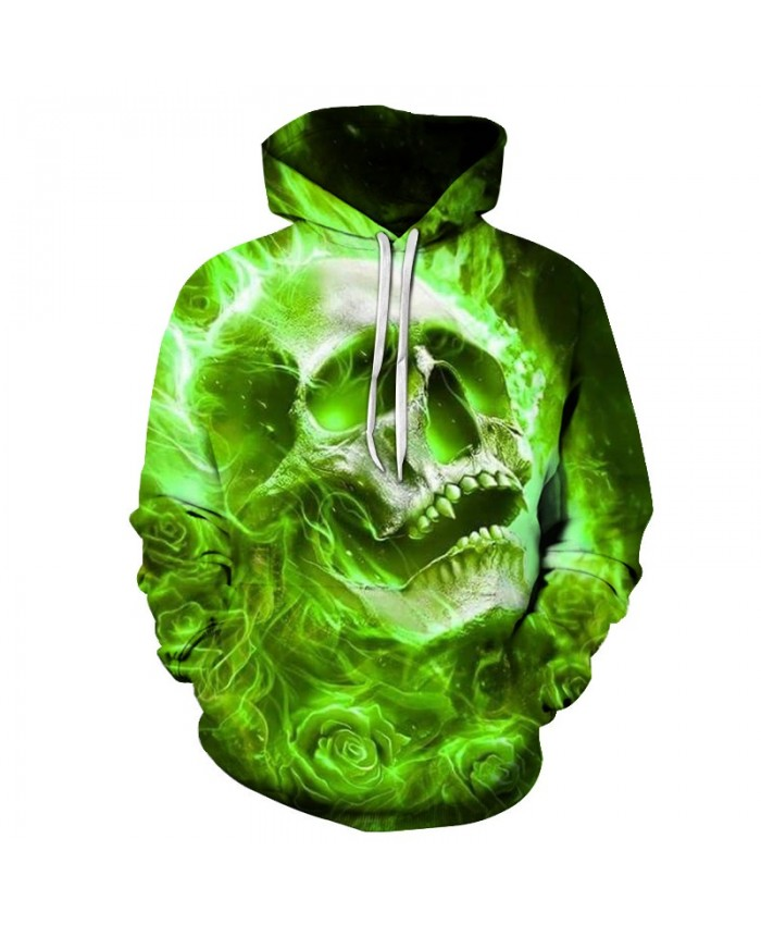 Skull Hoodies Sweatshirts Men Tracksuits Streetwear Coat 3d Printing Pullover Autumn Hoodie Anime Hoodie Drop Ship